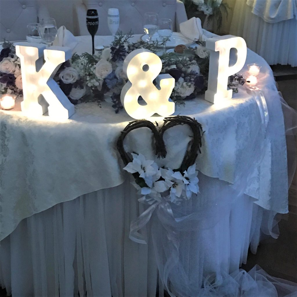 Lighted Letters for wedding