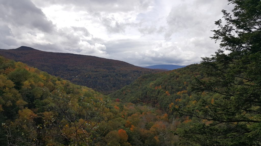 Catskil Mountains from viewing platform at Kaaterskill Falls