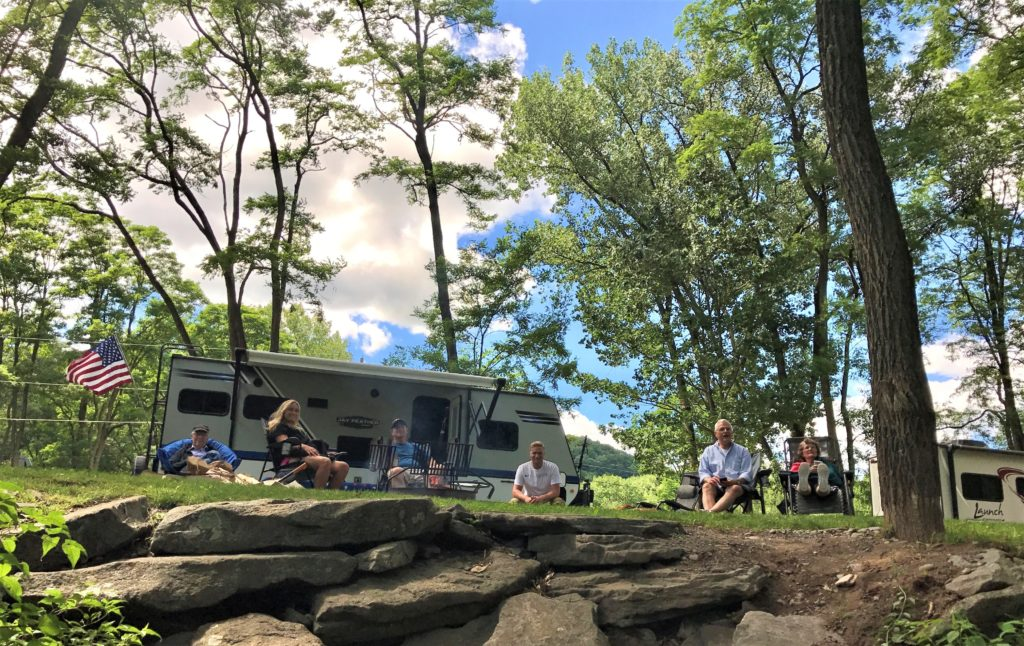 Family camping at Sleepy Hollow Campgrounds