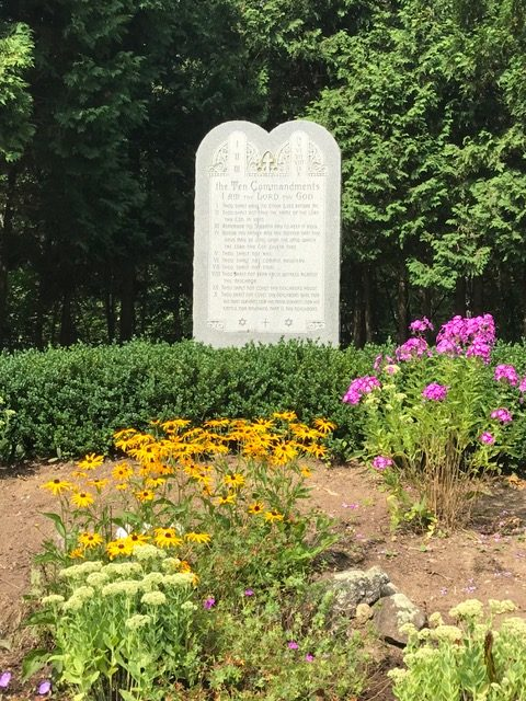 Ten Commandments Garden