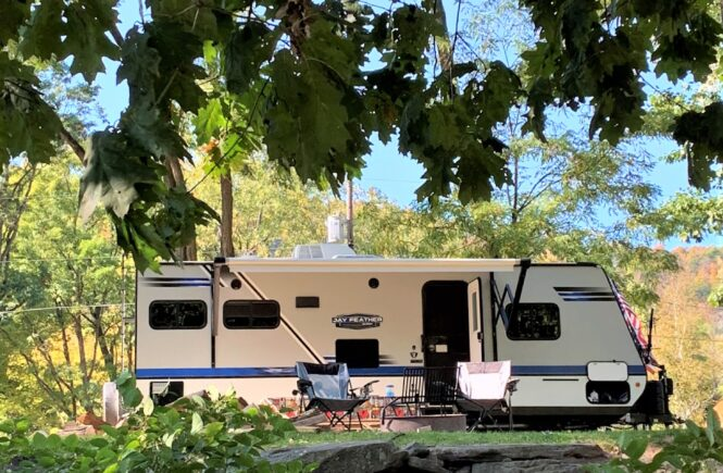 RV campsite at Sleepy Hollow Campgrounds New York