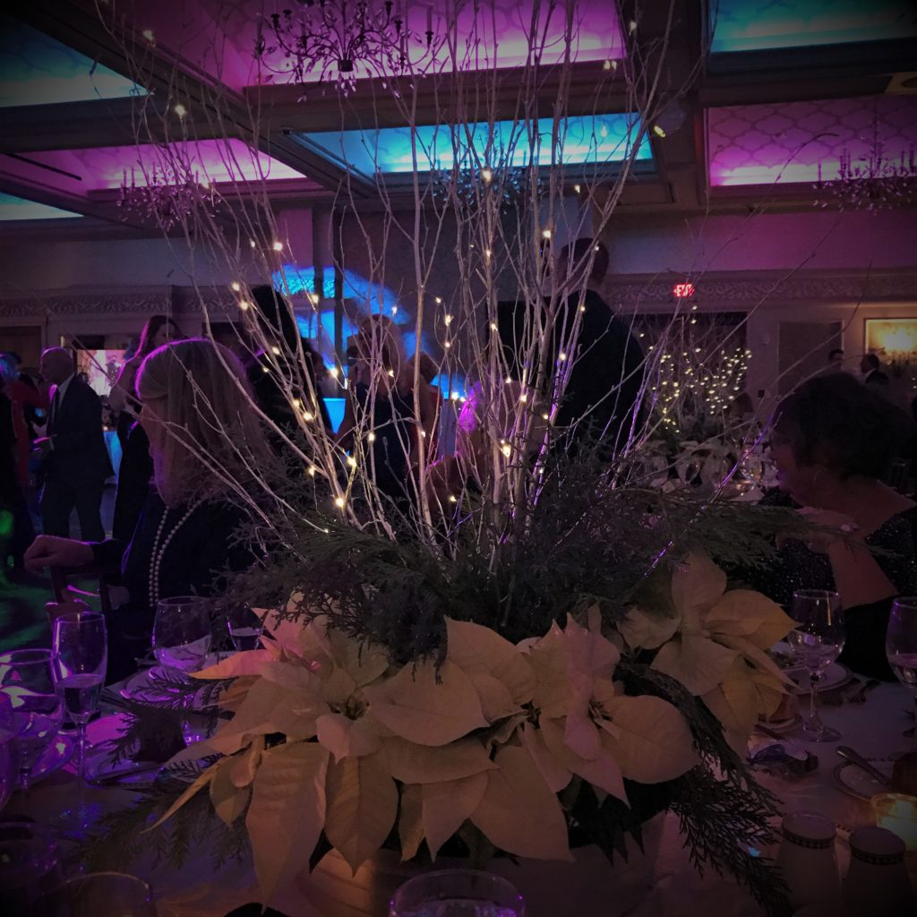 Centerpieces With Lighted Birch Branches
