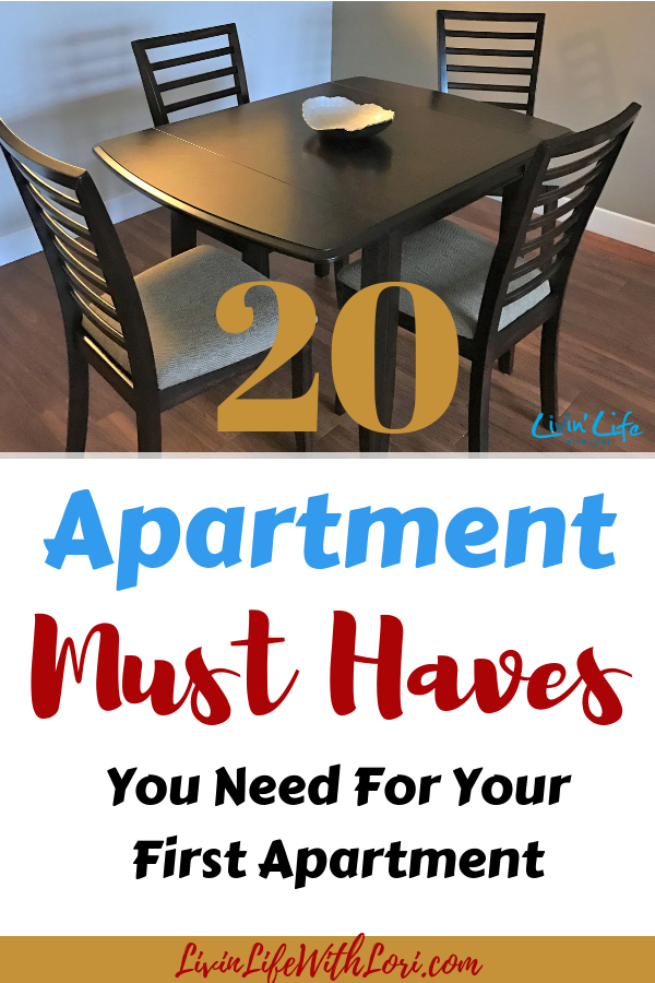 top 20 must haves for your first apartment livin 39 life with lori. Black Bedroom Furniture Sets. Home Design Ideas