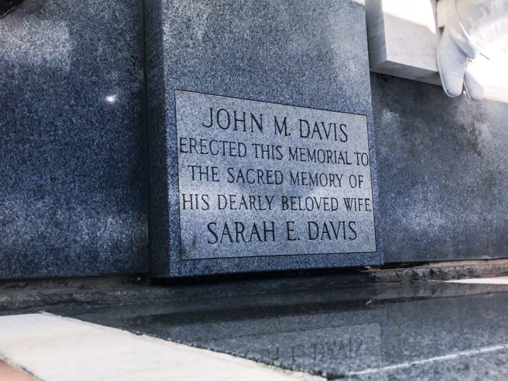Davis Memorial plaque