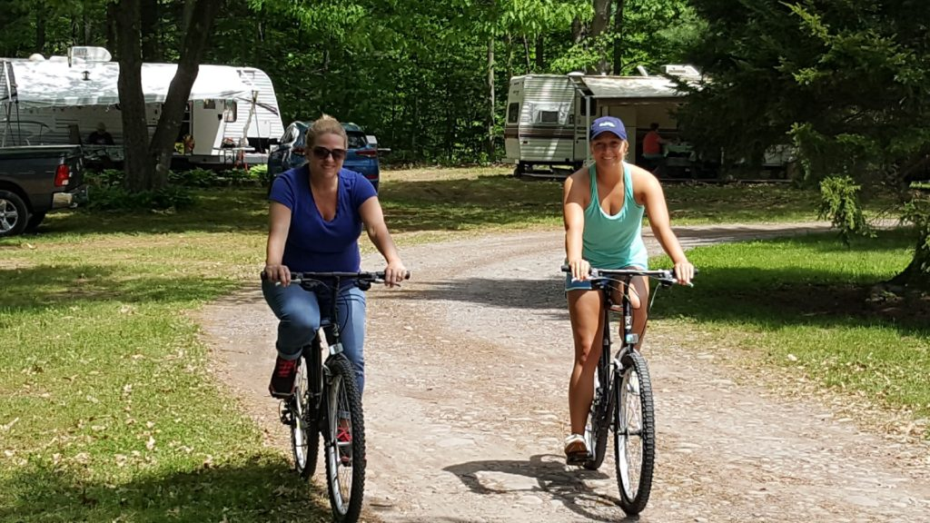 Riding Bikes At Sleepy Hollow Campgrounds