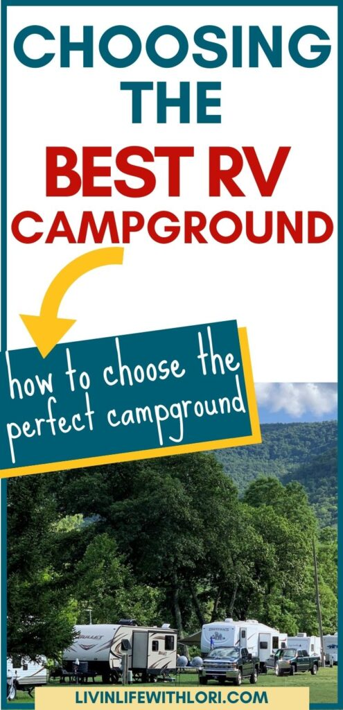 RV travel trailers at campground