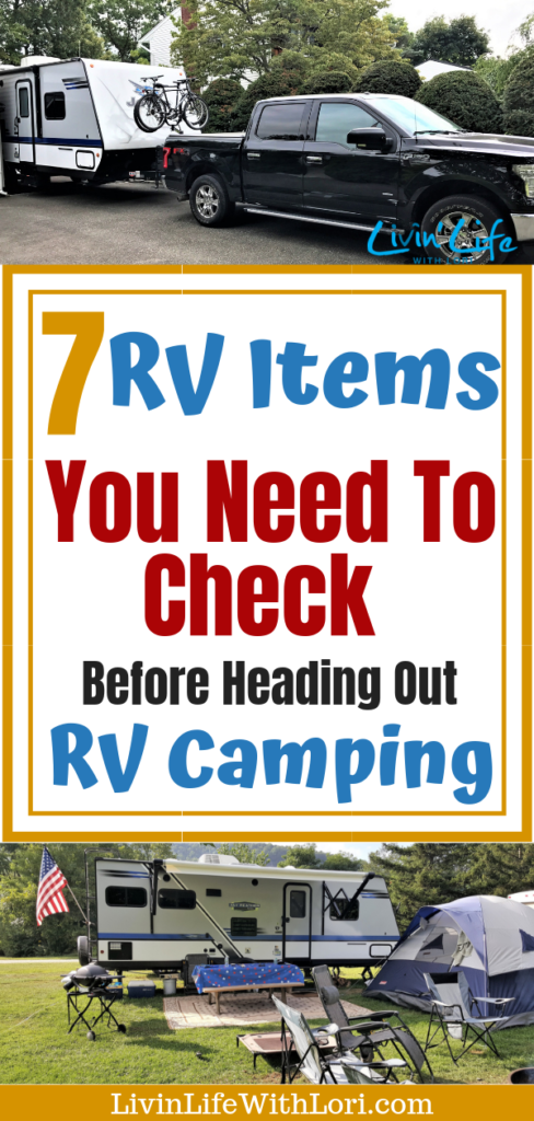 Check these 7 RV Items Before Heading Out RV Camping