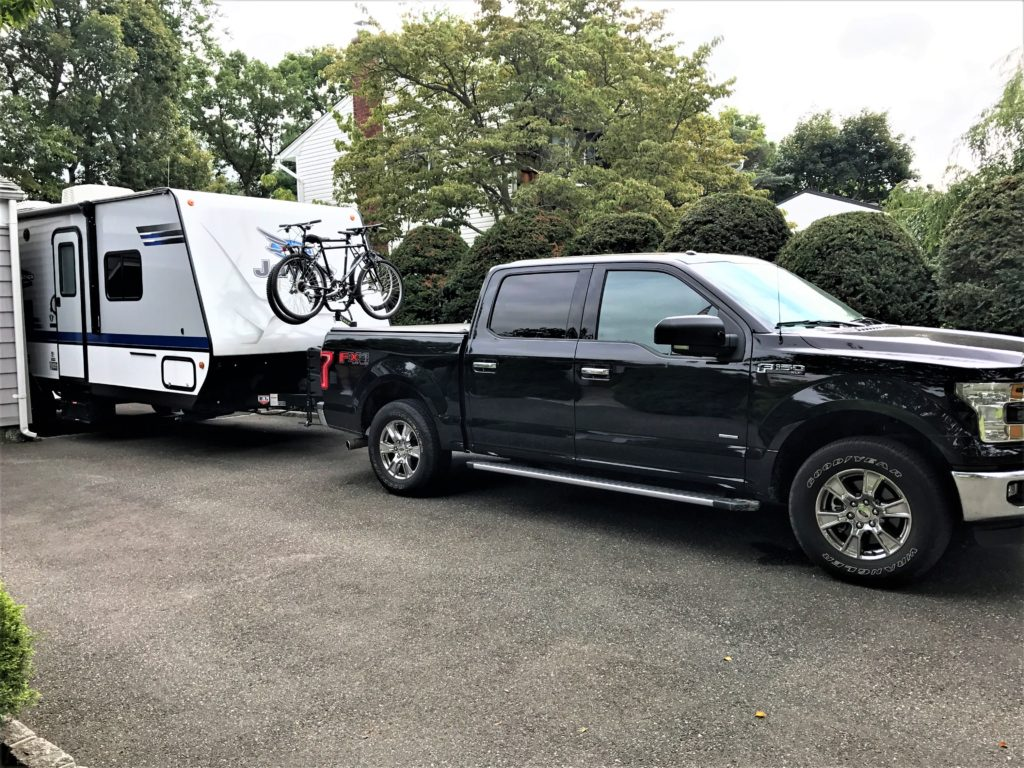 Jayco Travel Trailer pulled by truck
