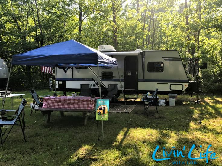 Enjoy Life Flag at Sleepy Hollow Campgrounds