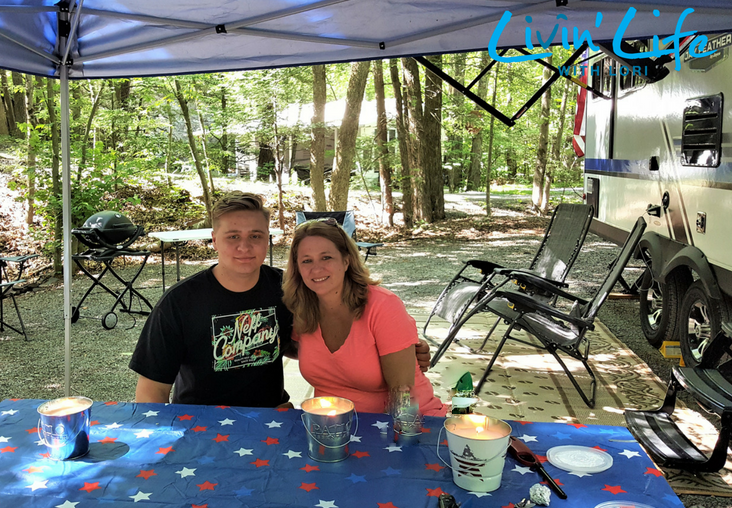 My son and me at Rip Van Winkle Campgrounds