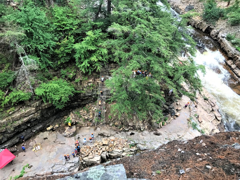 Rock climbing at Ausable Chasm