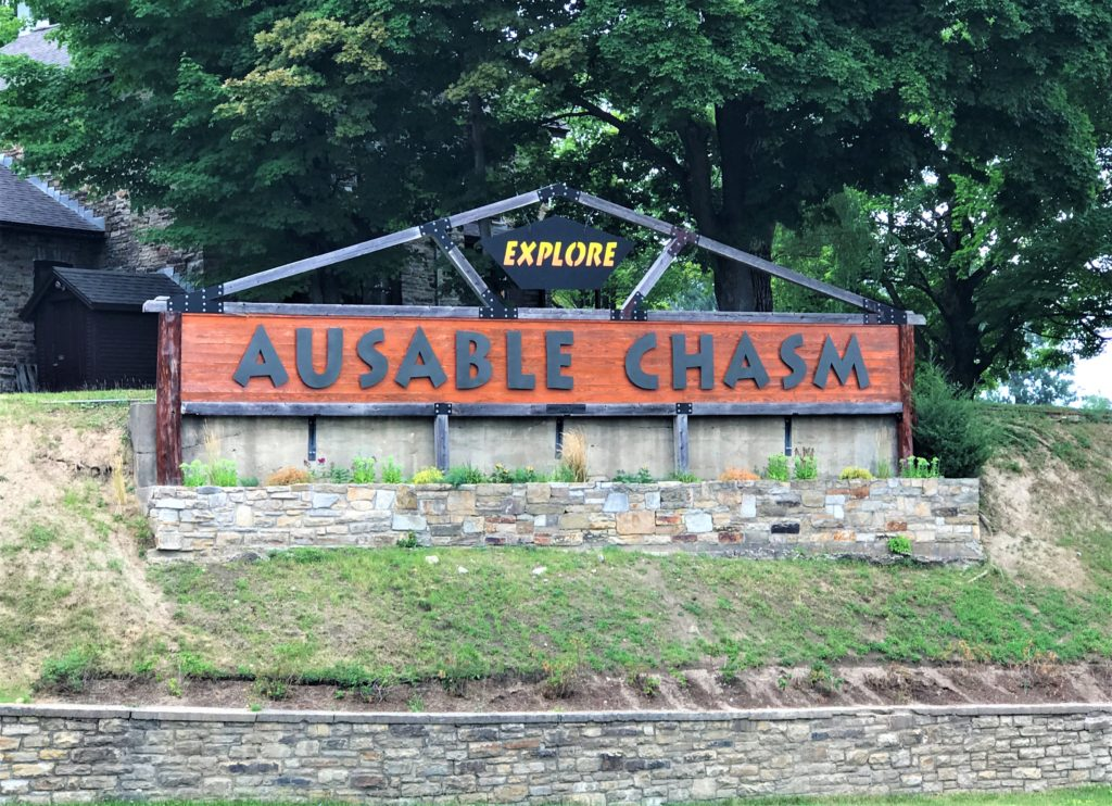 Ausable Chasm Welcome Sign