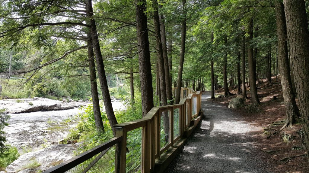 Easy Walking Trail at High Falls Gorge