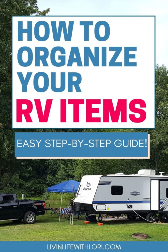 How To Organize Your RV Items