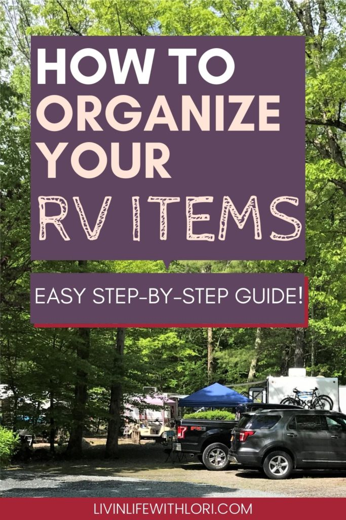 Tips For Organizing Your RV Camping Items