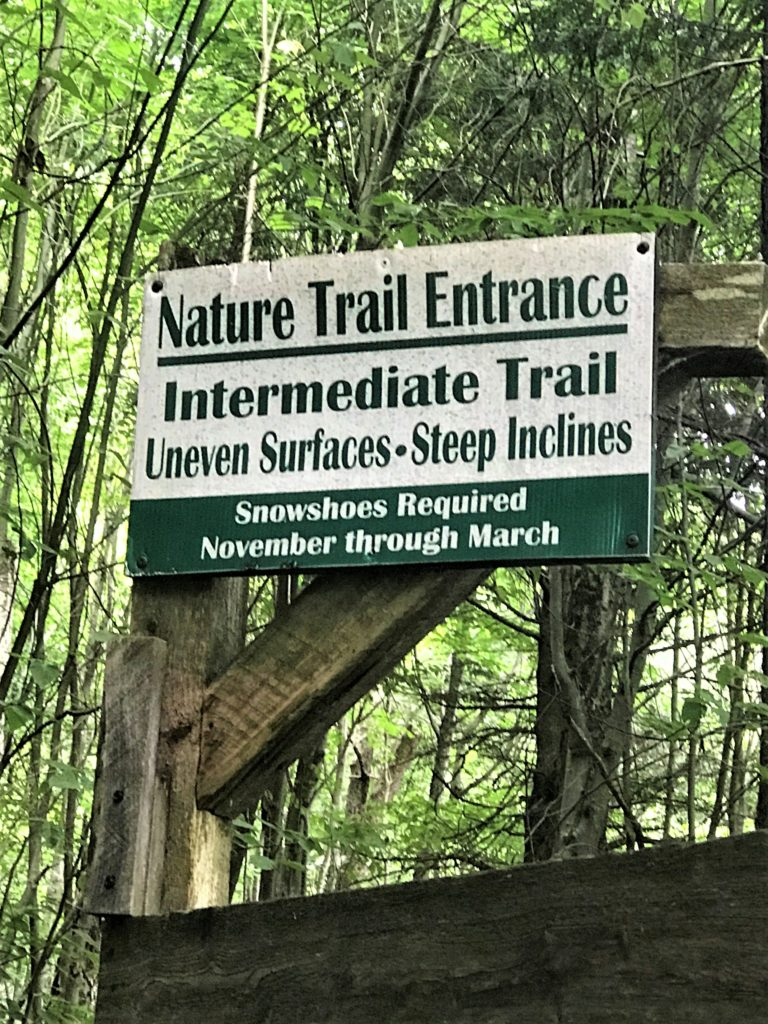 Nature Trail Entrance High Fall Gorge