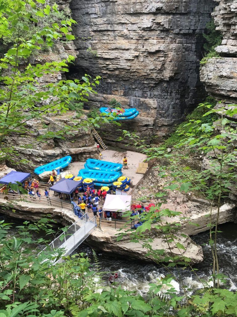 Raft and Tube Tour at Ausable Chasm