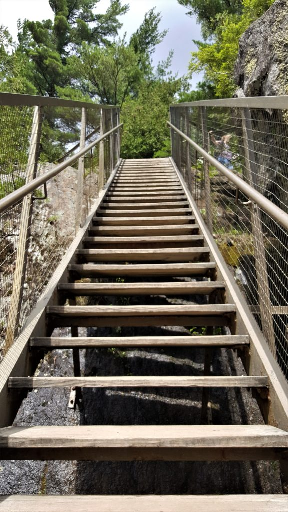 Stairs To Climb at High Falls Gorge