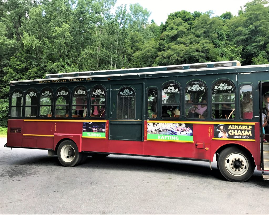 Trolley at Ausable Chasm