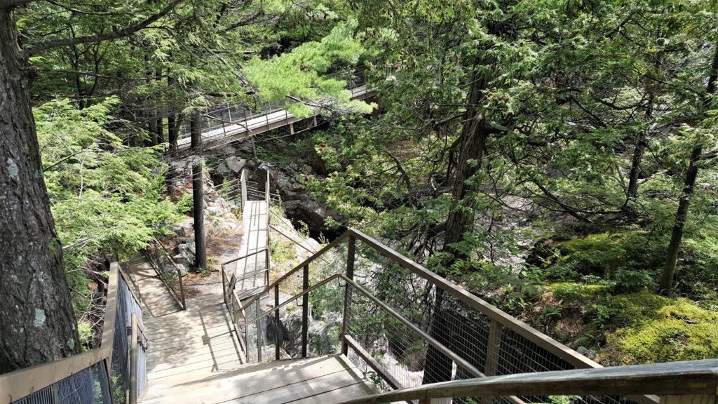 Walkway at High Falls Gorge