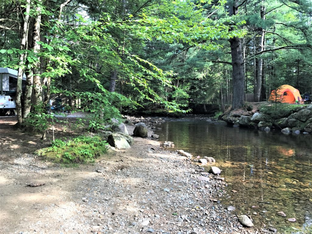 Campsites by the creek Fransted Family Campground