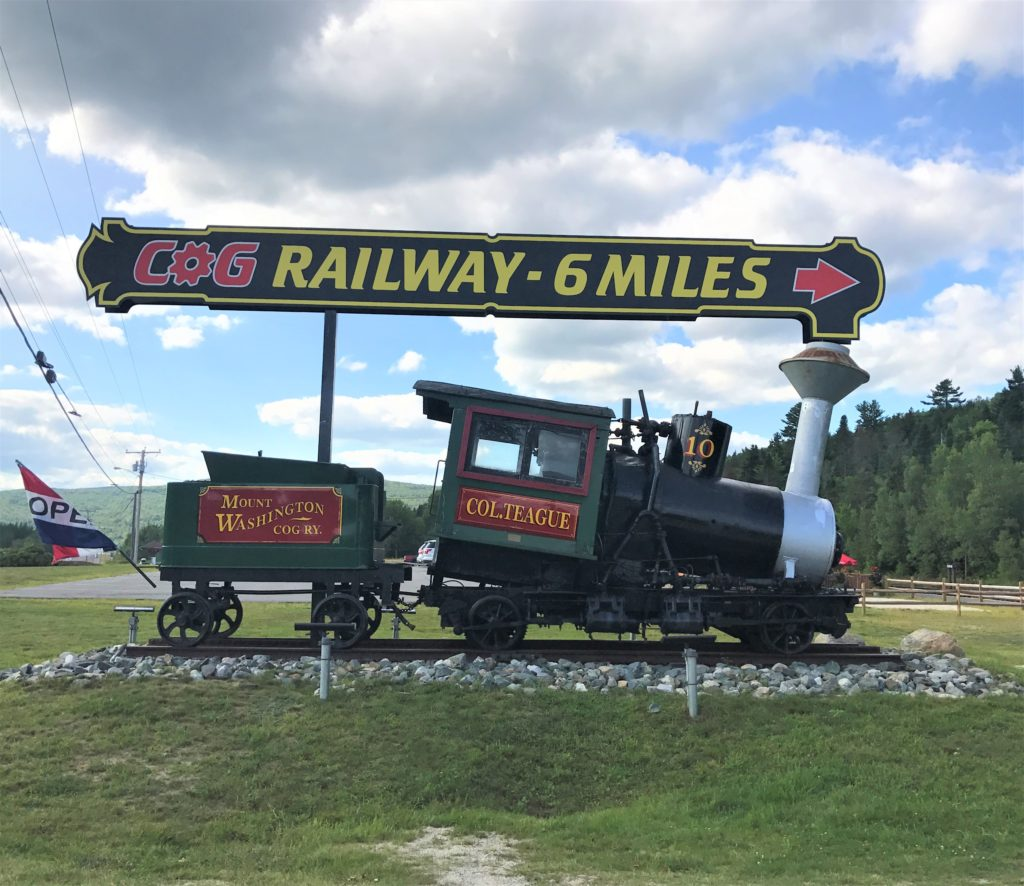 Cog Railway Entrance Sign