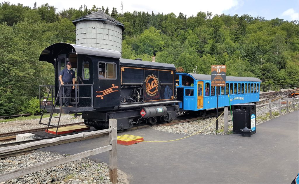 Conductor of Cog Railway at Mt. Washington