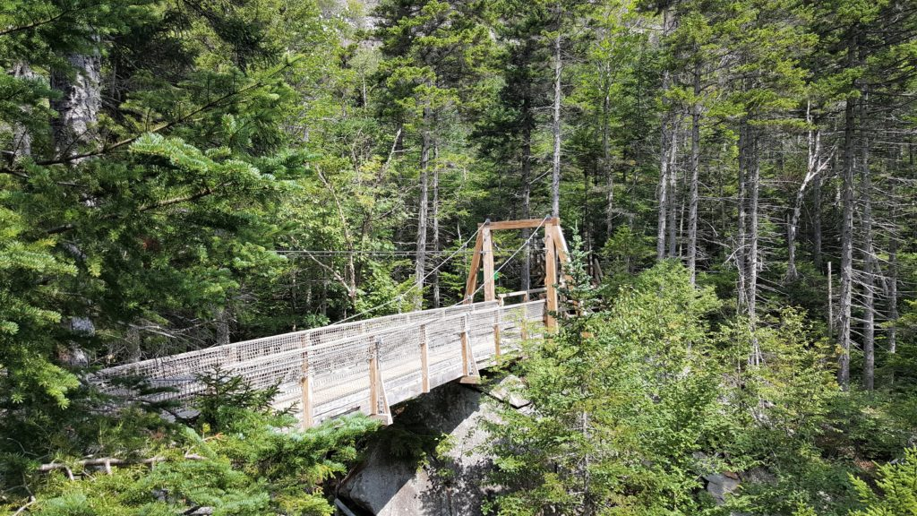 Suspension Bridge at Lost River Gorge