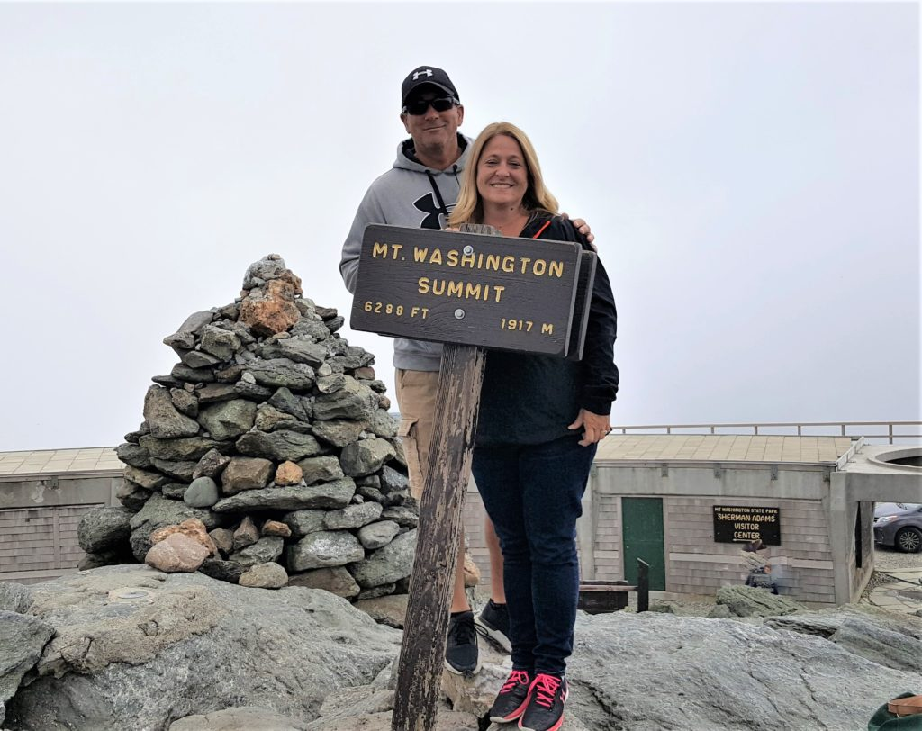 The top of Mt. Washington Sign