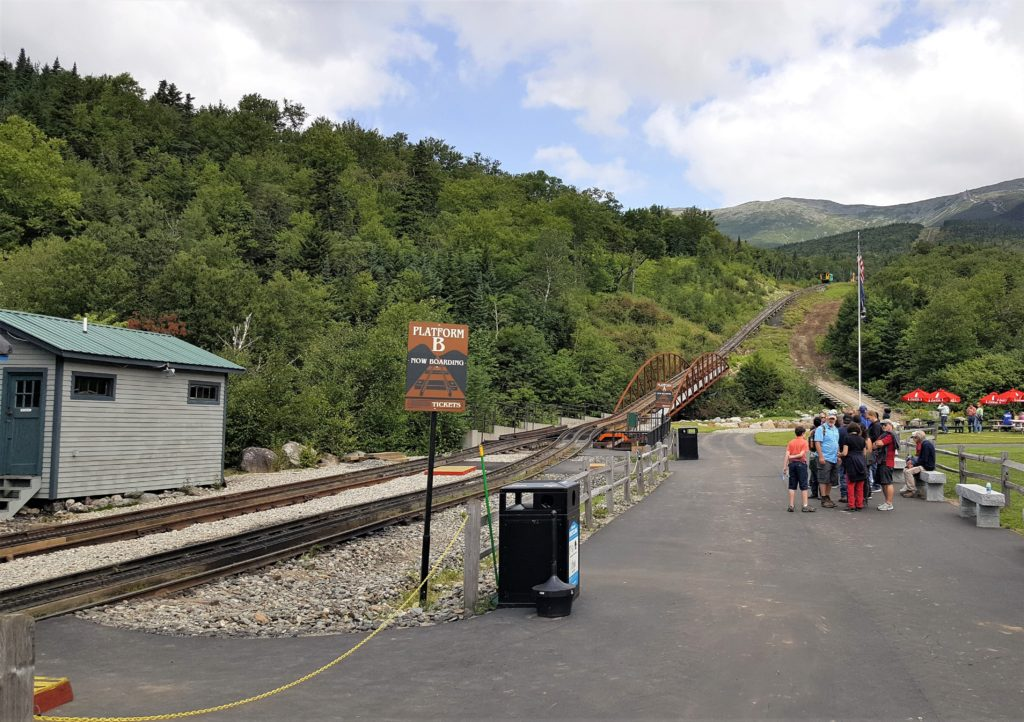 Waiting for the Cog Railway Mt. Washington
