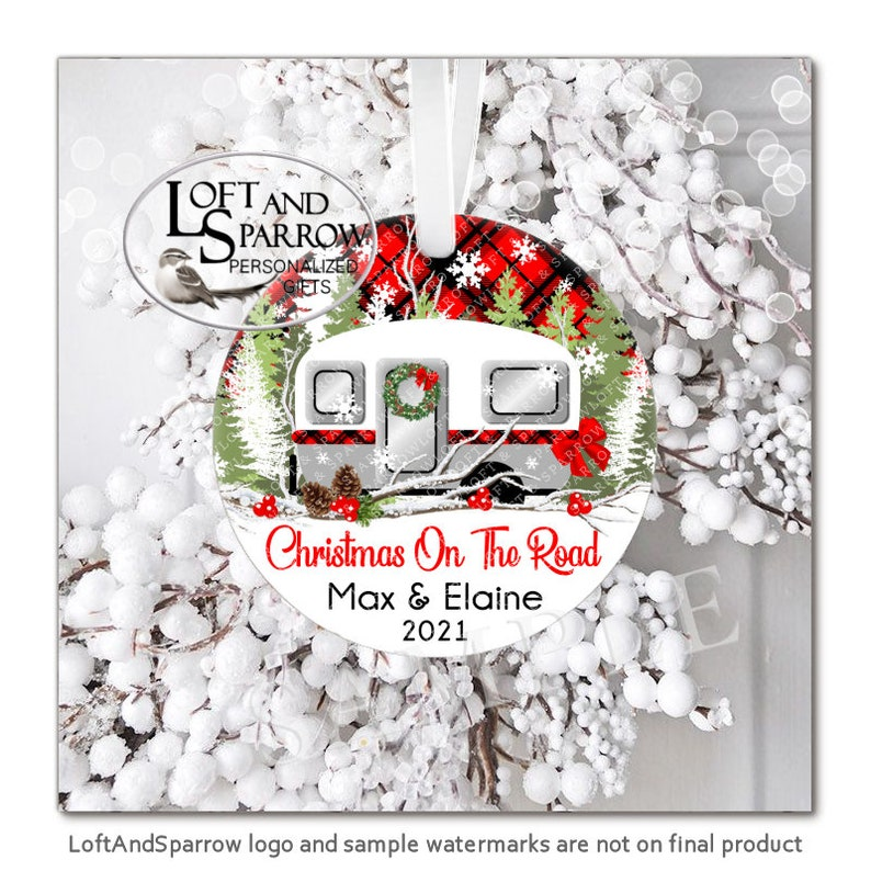 RV Camper Christmas Ornament