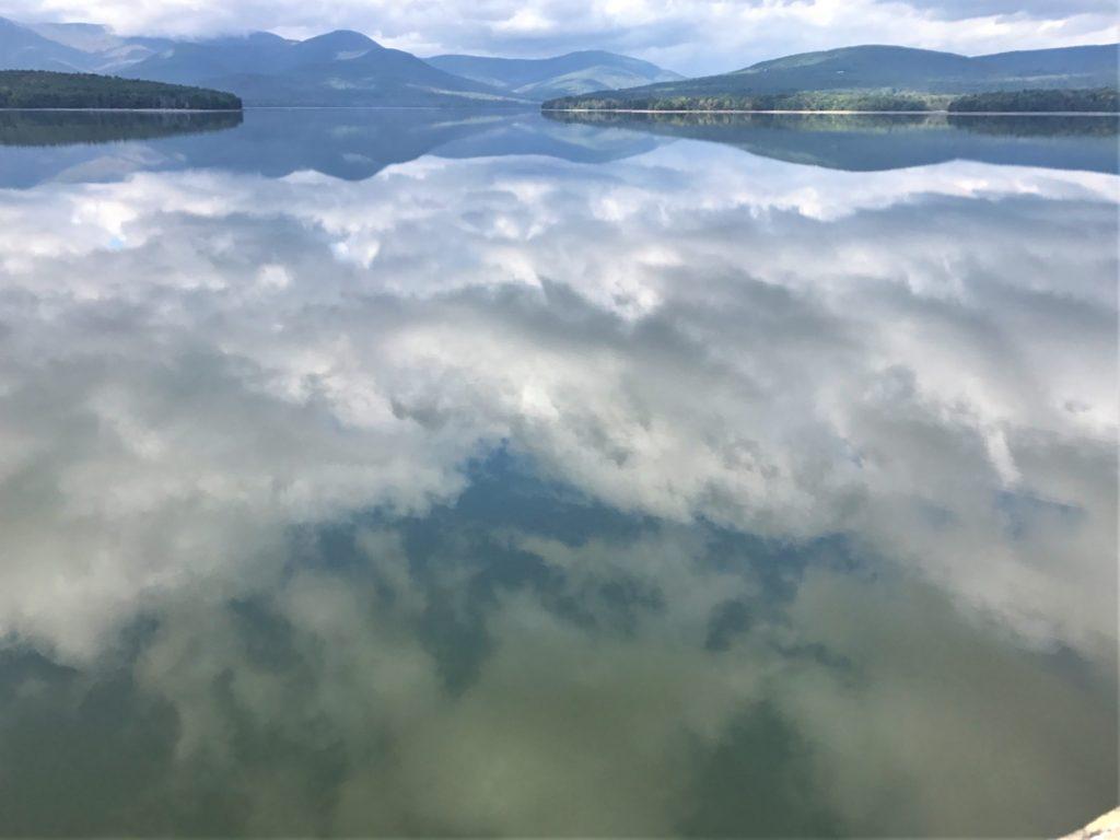Cloud mirrors on the Reservoir at Ashokan Reservoir