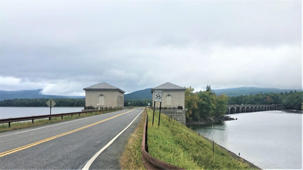 Entrance to causeway at Ashokan Reservoir