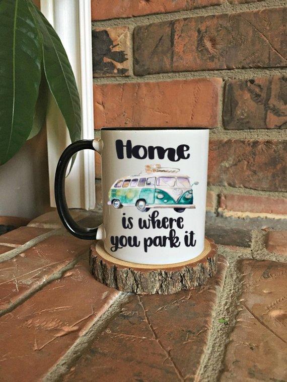 Home is where you park it mug