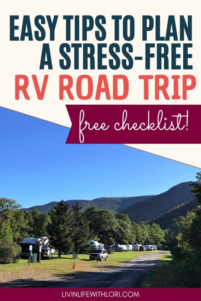 Easy Tips To Plan A Stress Free RV Road Trip