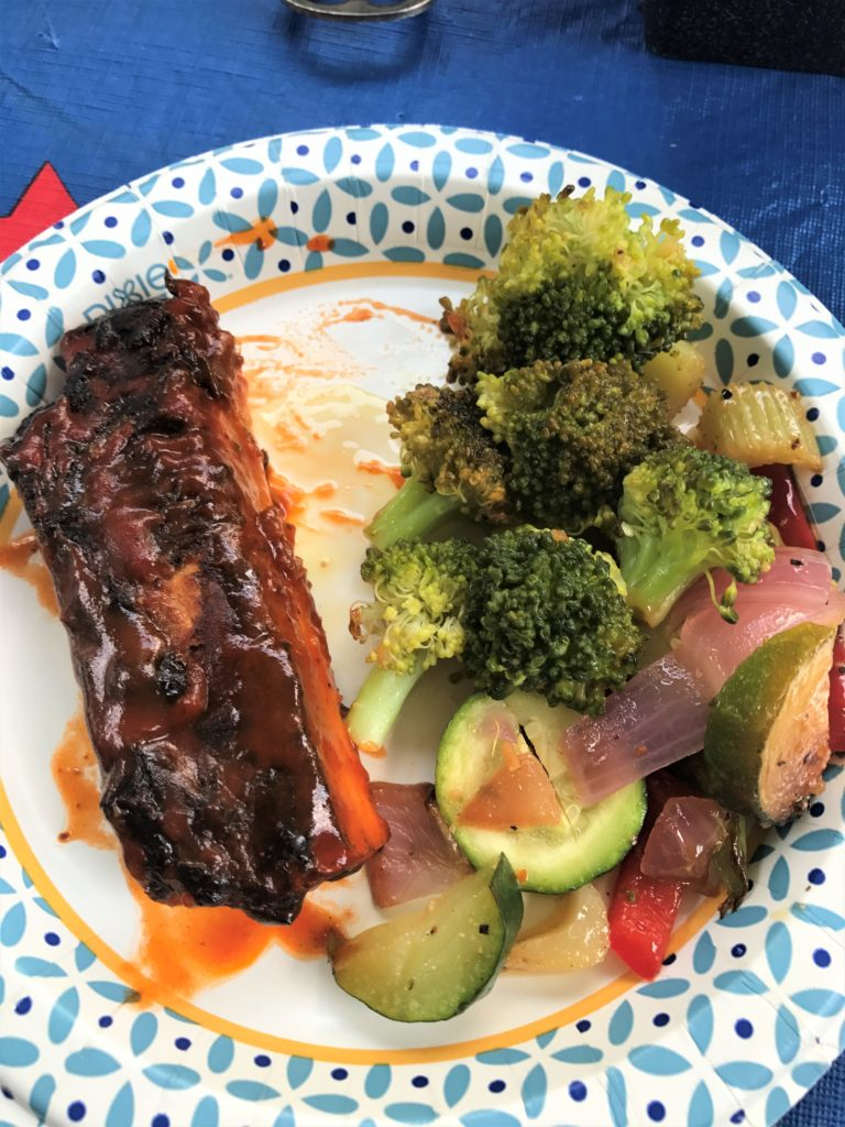 BBQ Spare Ribs & Veggies