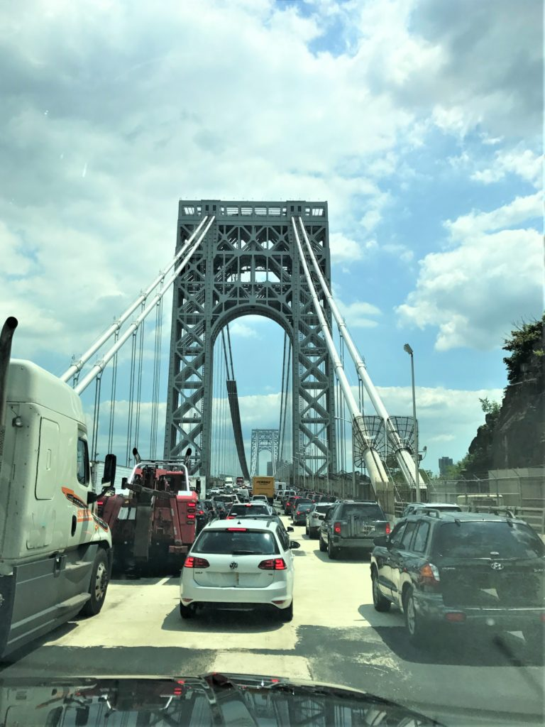Crossing the George Washington Bridge NY