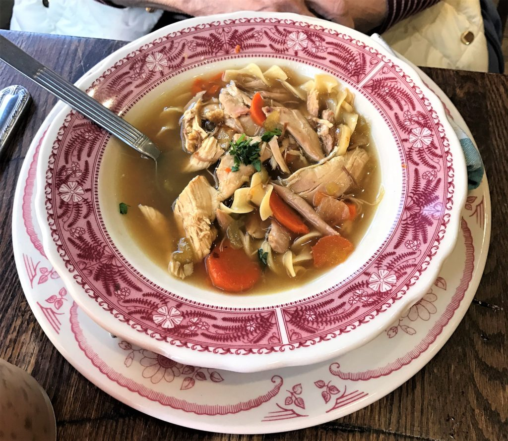 Homemade Chicken Noodle Soup at the Pioneer Woman Mercantile Restaurant