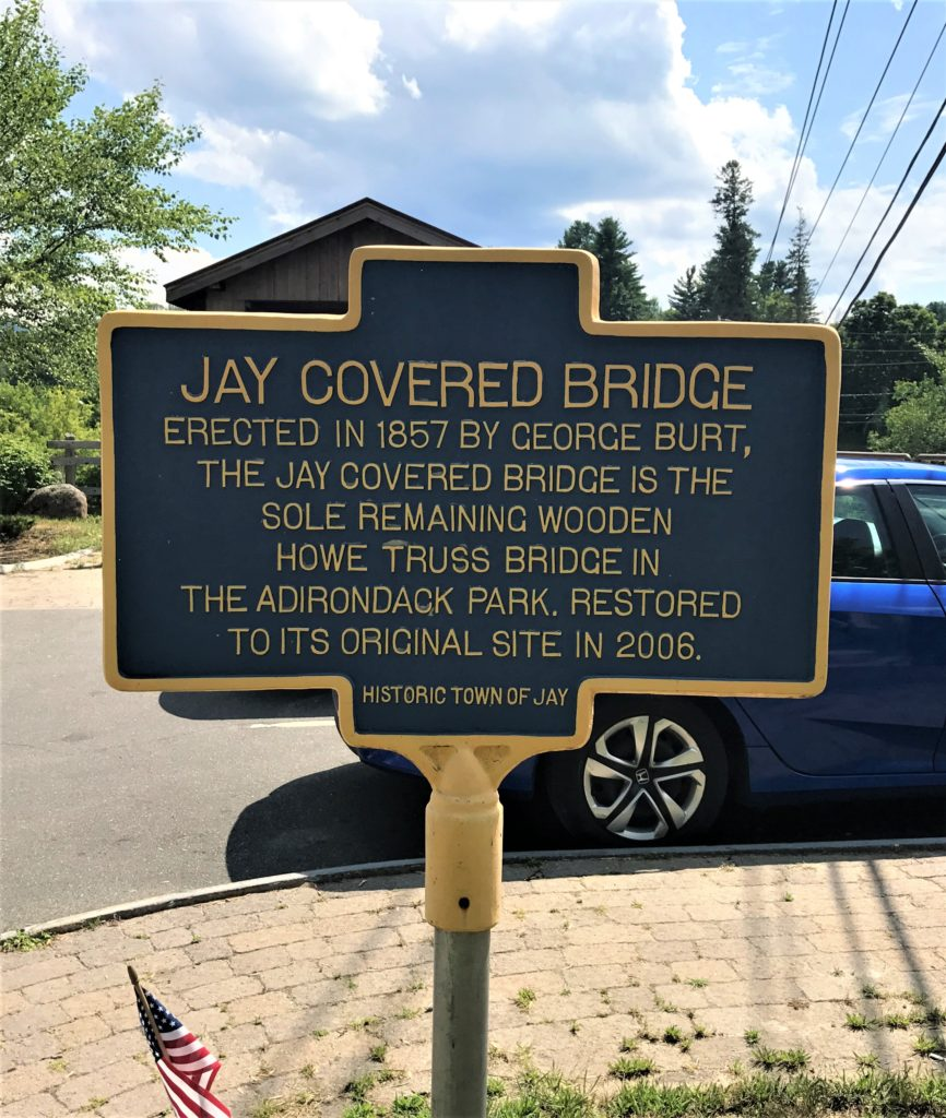 Jay Covered Bridge Historic Sign