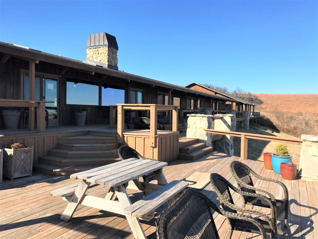 Pioneer Woman Lodge deck area