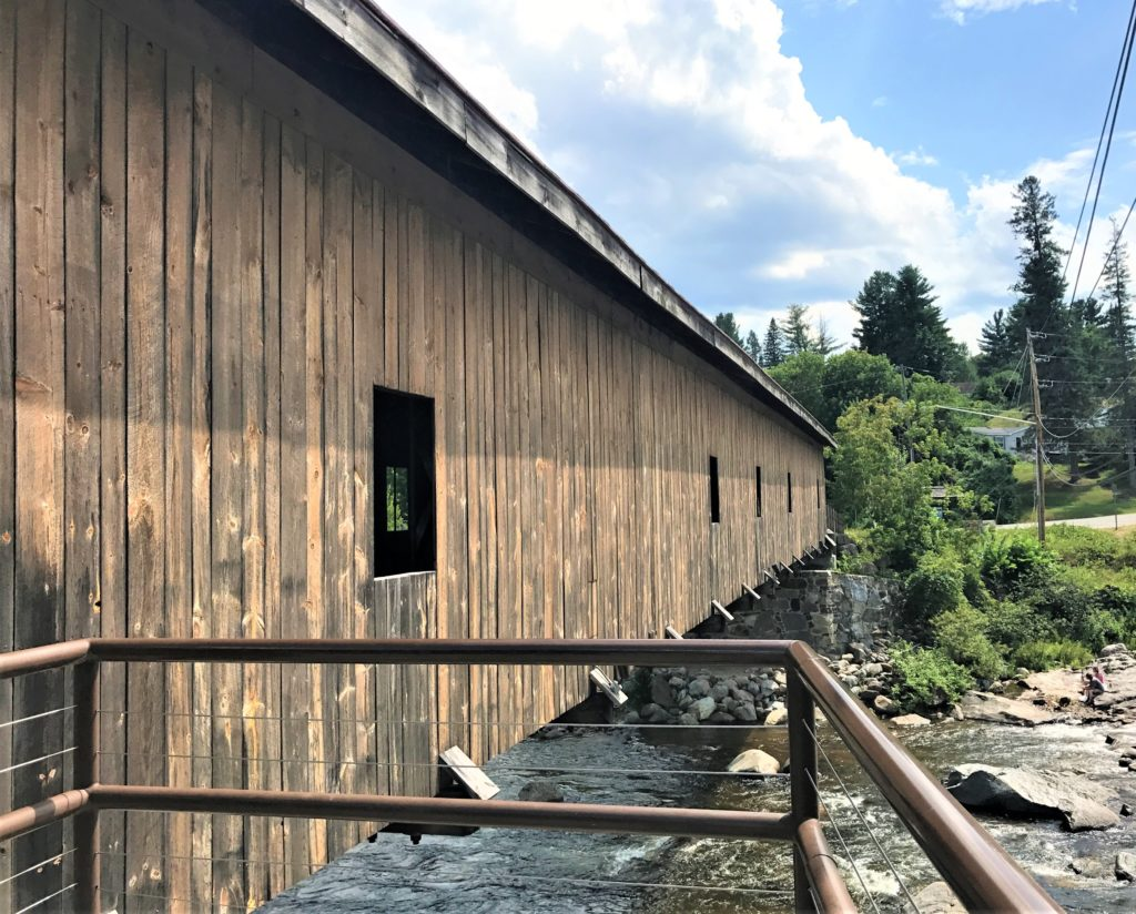 Restored Jay Covered Bridge - Jay NY