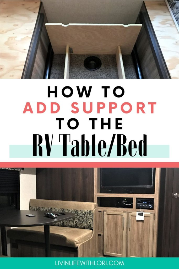 The Best Way To Add Support To Your RV Table Bed