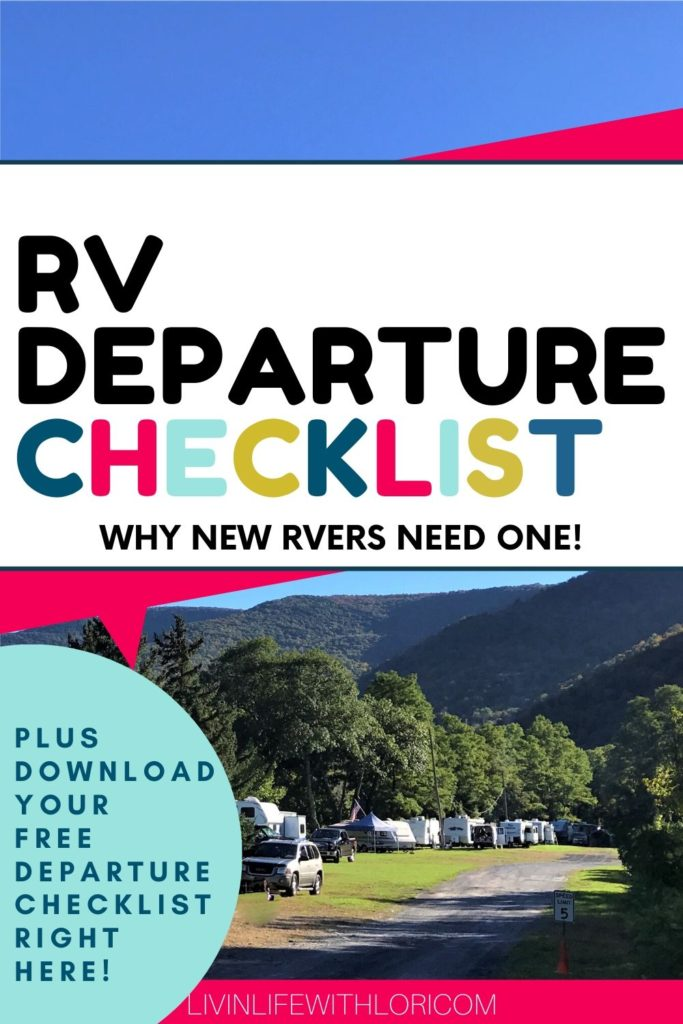 The Best RV Departure Checklist For New RVers