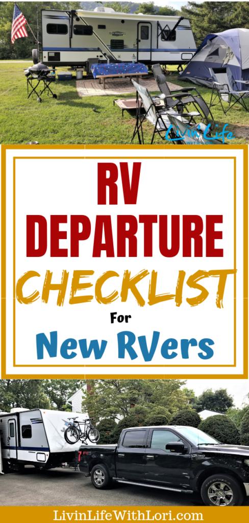 RV Departure Checklist For New RVers