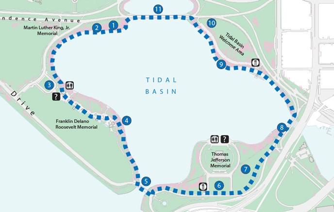 Tidal Basin Loop Trail Washington DC