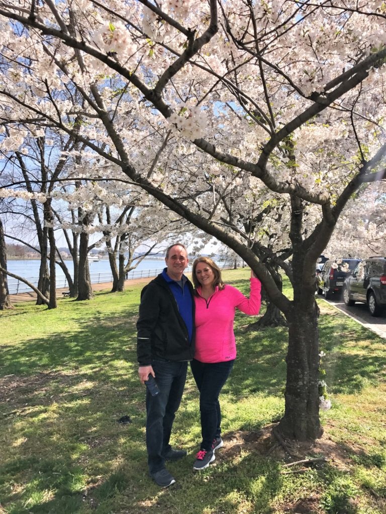 Tom and Lori at Haines Point Loop seeing the Cherry Blossoms