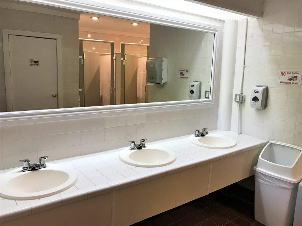 Clean Bathrooms at Skyway Camping Resort