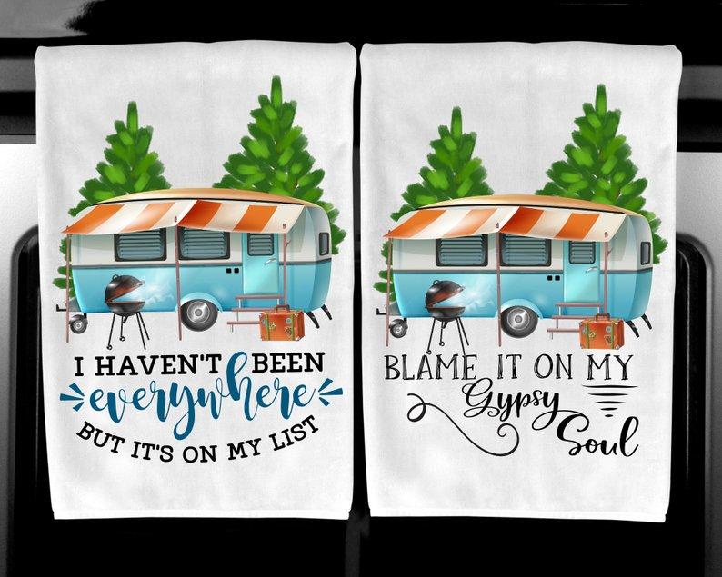 Happy Camper Kitchen Towels