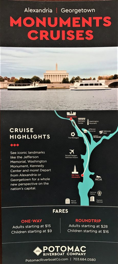 Monuments Cruises from Old Town Alexandria, Virginia