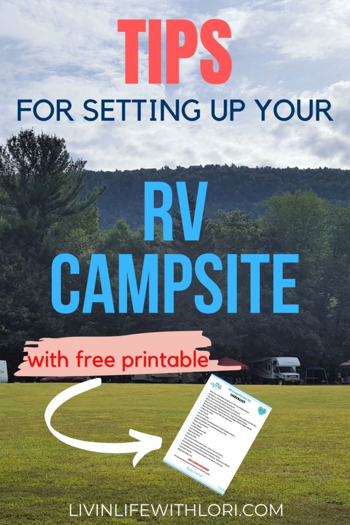 Tips For Setting Up Your RV Campsite